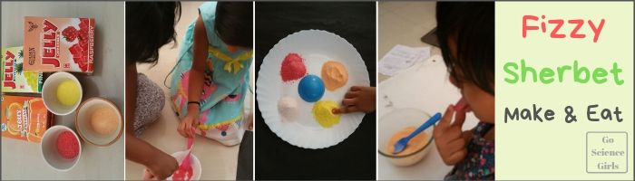 Edible Sherbet: Science that kids can measure mix pour and taste - Go Science Girls