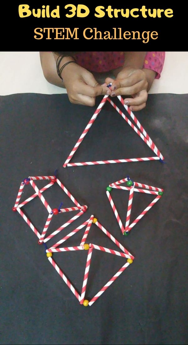 STEM challenge can you build a 3D structure