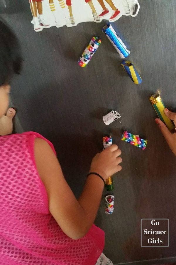 DIY magnetic marble run