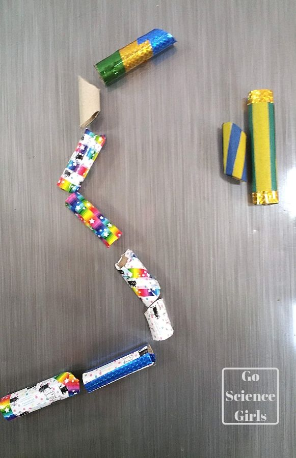Magnetic marble run for your fridge door fun science for kids