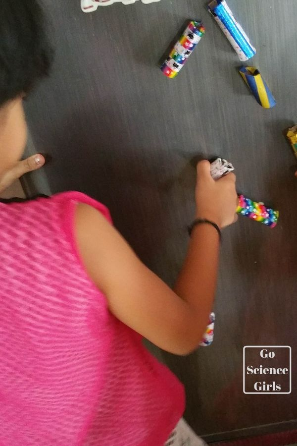 Make a DIY magnetic marble run for the fridge