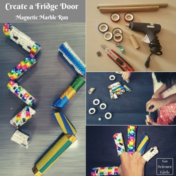 Make a DIY magnetic marble run for your fridge door