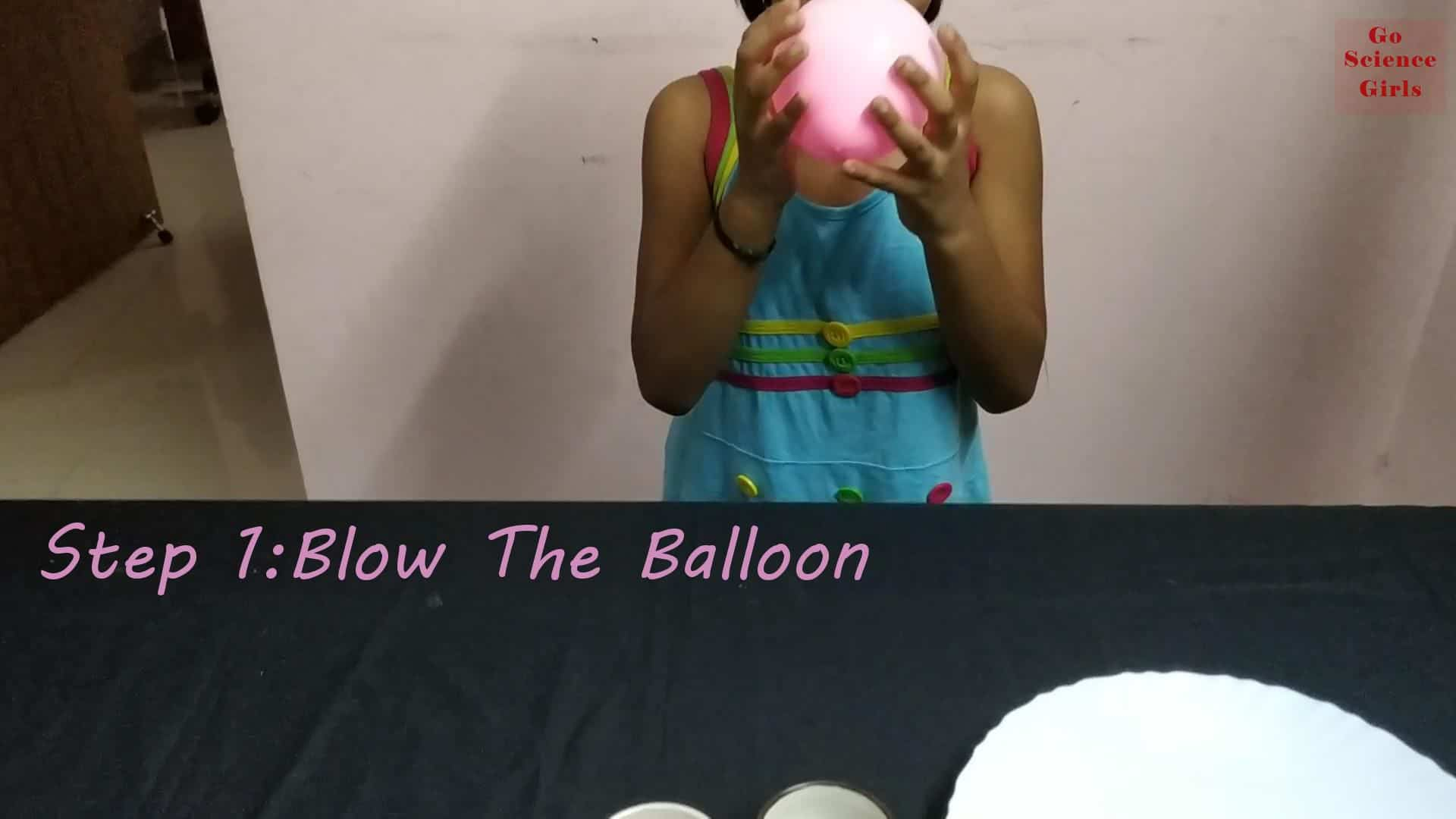 Blow the balloon static science experiment