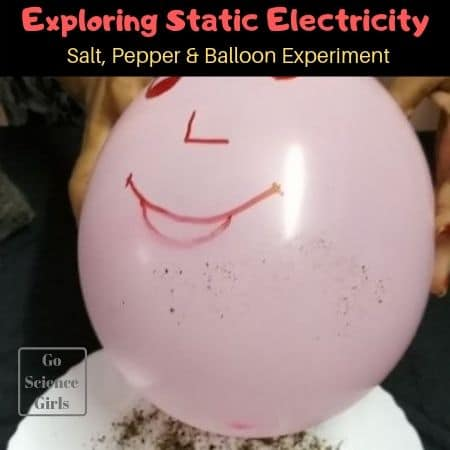 Static Science Experiment Salt Pepper and Balloon