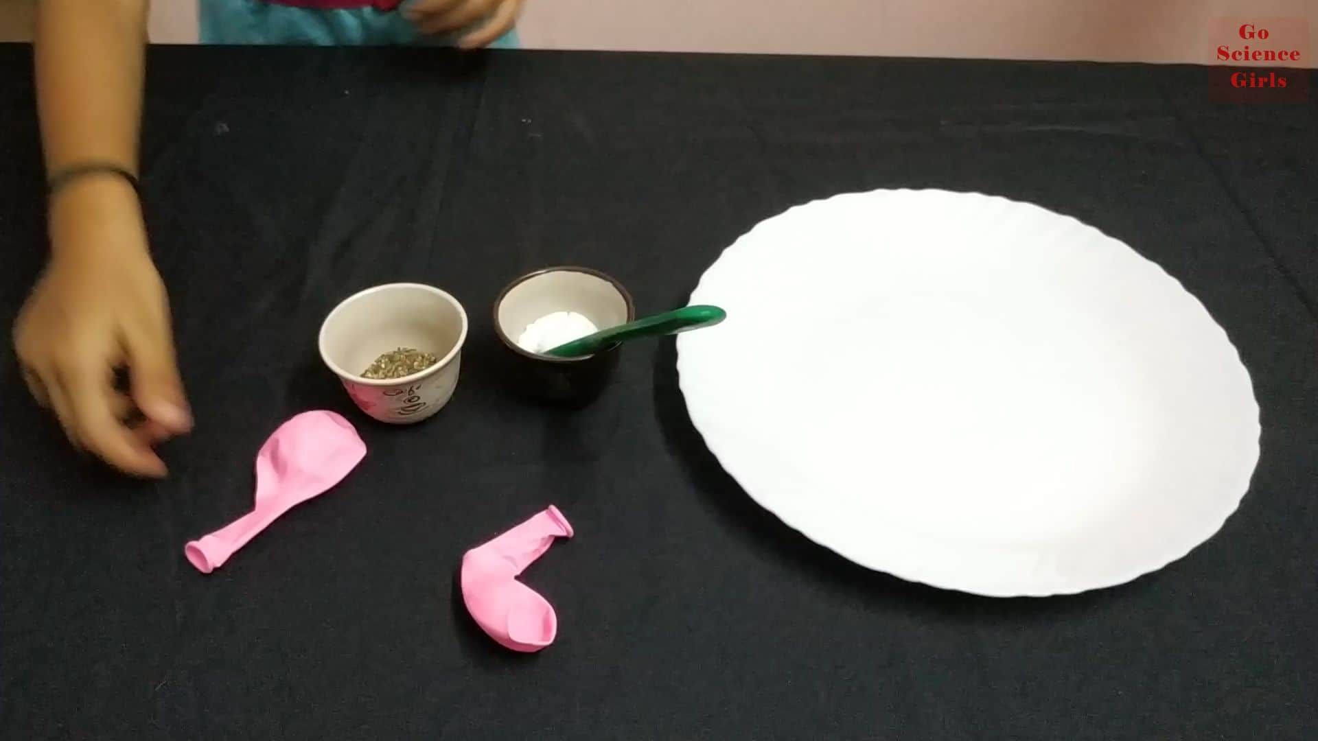 Things We Need For Salt and Pepper and Balloon Experiment