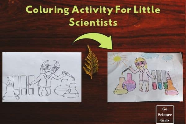 Coluring Activity For Little Scientists