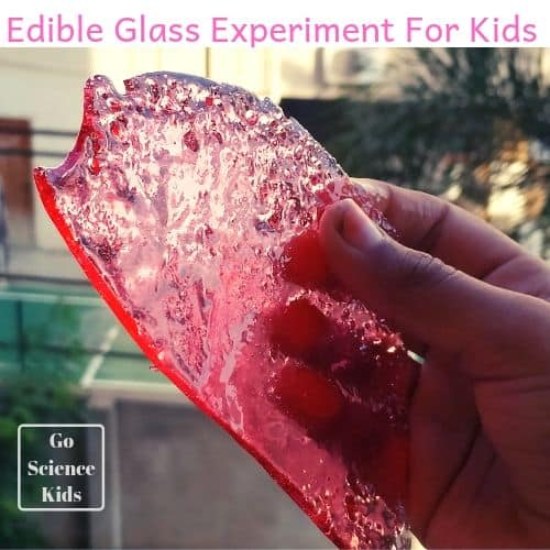 Edible Glass Experiment For Kids go science girls