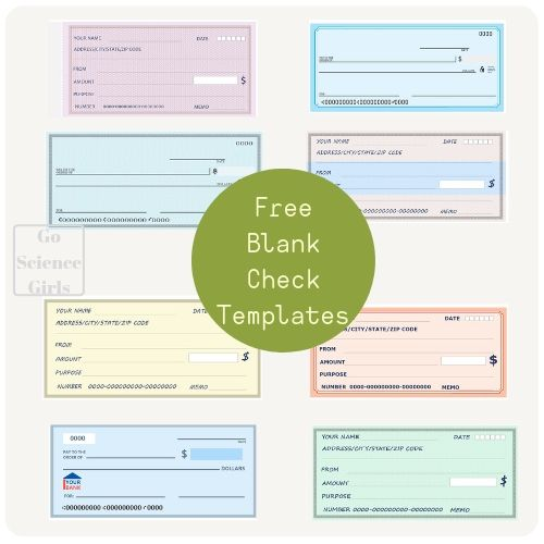 Free Blank Check Templates for Kids