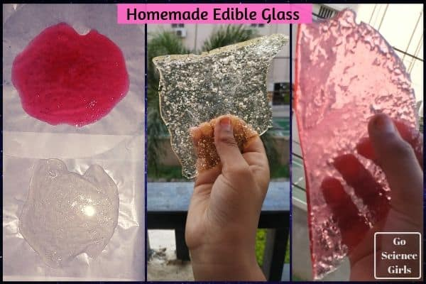 Making Colour Edible Glass Go science girls