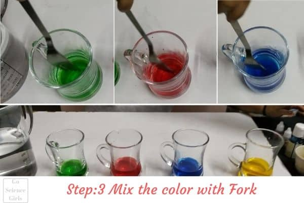 Mix Food Color With Water homemade lava lamp