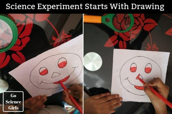 Science Experiment starts with drawing