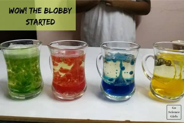 seeing the blobs in lava lamp experiment