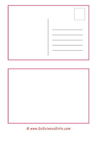 blank postcard template for kids