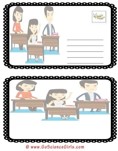 post card template for kids school project