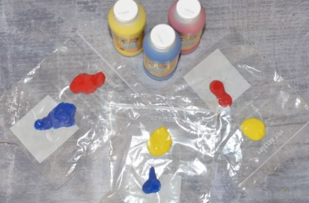 Color Theory with Squishy Plastic Bags