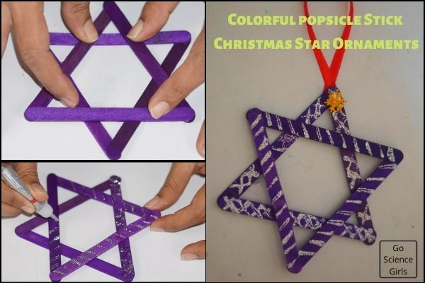 Colorful Popsicle Stick Christmas   Star