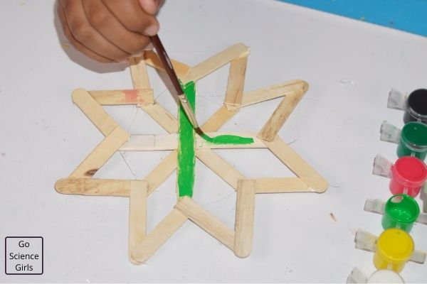 Colorful Popsicle Stick Christmas Crafts