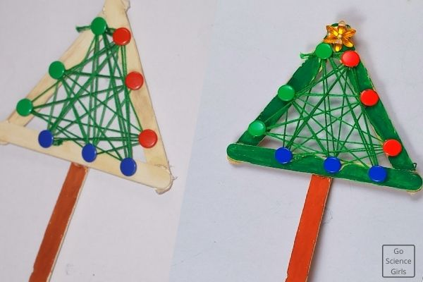 Popsicle Stick Christmas Tree Ideas