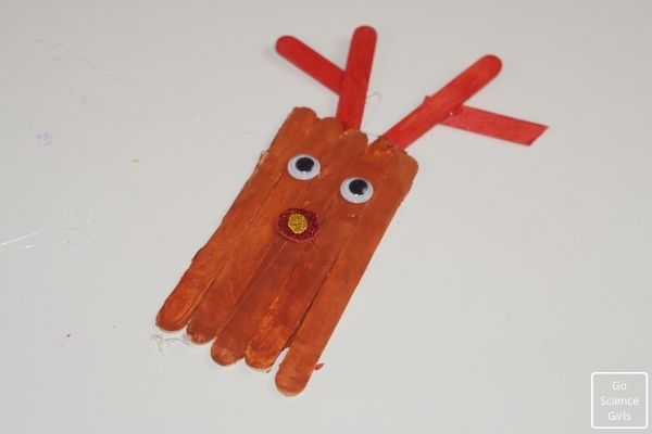 Christmas Popsicle Stick Reindeer Ornaments