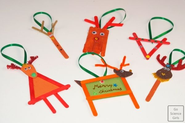 Christmas Popsicle Stick Reindeer Ornaments crafts