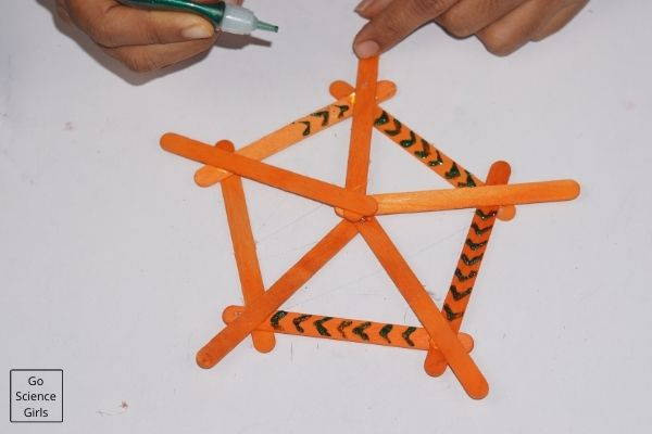 Decorated Popsicle Stick Snowflakes   For Christmas Tree
