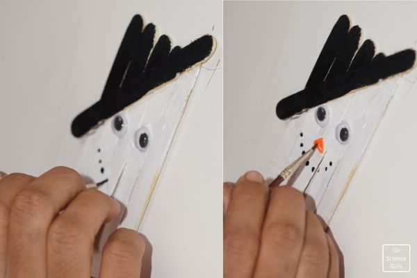 Drawing Nose Popsicle Stick Olaf