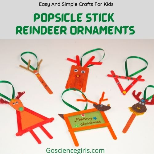 Easy And Simple Popsicle Stick Reindeer