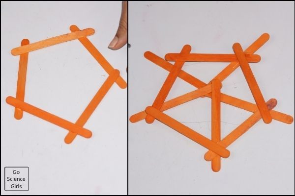 Hanging Popsicle Stick Snowflakes   For Christmas Tree Decorations