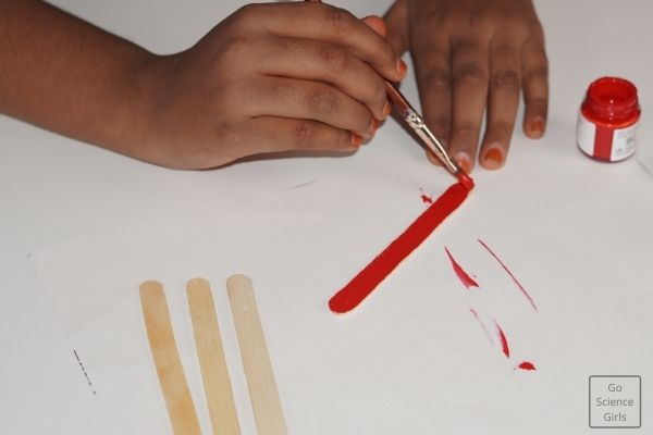 Painting Popsicle Stick For Christmas Santa Claus