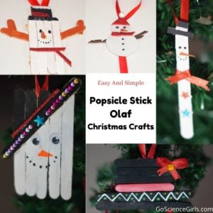 Popsicle Stick Olaf Christmas Crafts