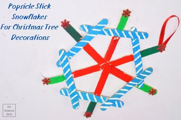 Popsicle Stick Snowflakes For Christmas Tree Decorations