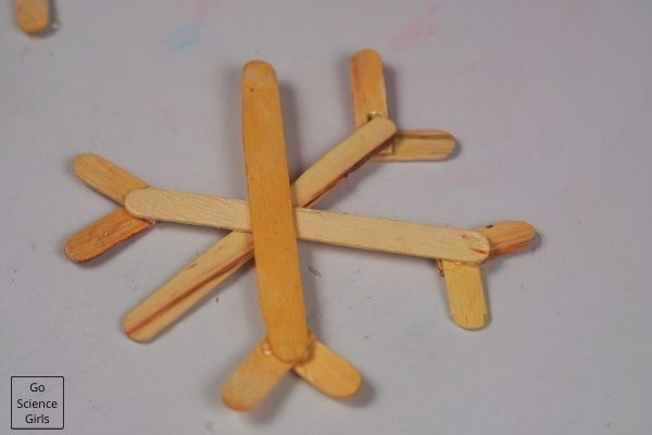 Popsicle Stick Snowflakes Christmas Ornaments