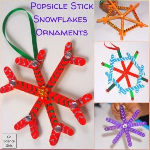 Popsicle Stick Snowflakes Ornaments