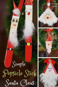 Simple Popsicle Stick Santa