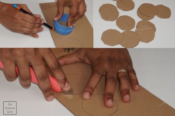 Cutout_the_circular_cardboards_for_safebox