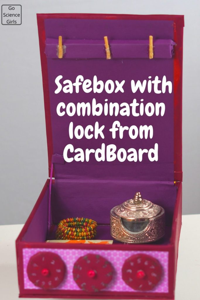 Safebox with combination lock from cardboard