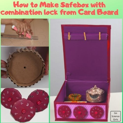 How to Make Safebox with combination lock from Card Board