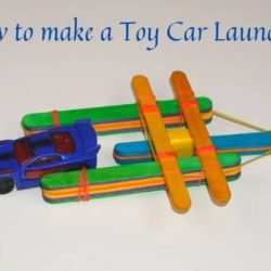 How to Make a Toy Car Launcher From Popsicle Sticks