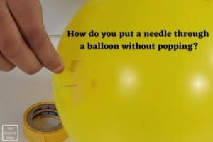 How do you put needle in a balloon without popping