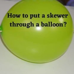How to Put a Skewer Through a Balloon : Science Fair Project
