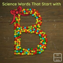 Science Words That Start With Letter B (Printable Worksheet)