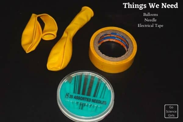 Things we need for non popping balloon activity