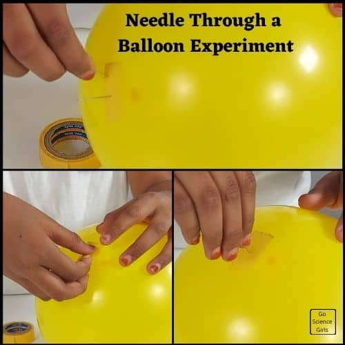 put a needle through a balloon without popping