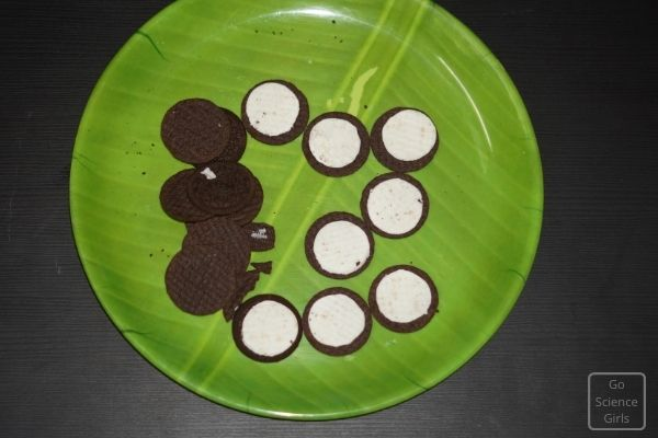 How ti use oreo biscuits for moon phases