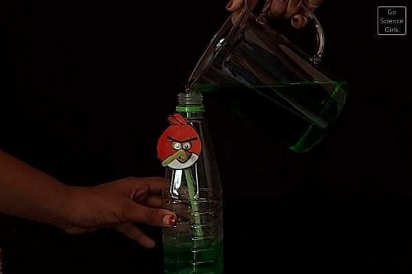 Fill Bottle With Color Water