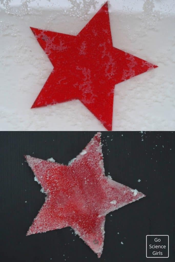 Making Of Christmas Crystal star