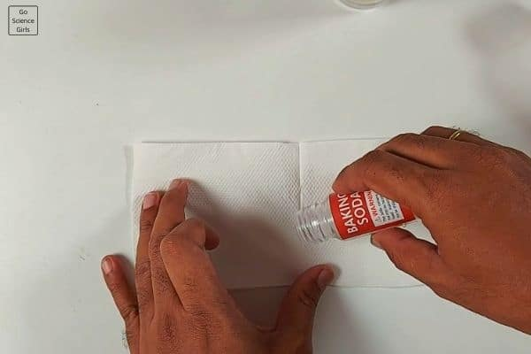 Put some baking soda in paper