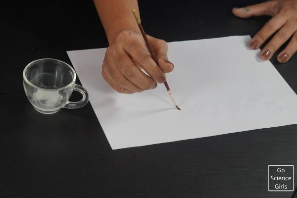 Salt Water Invisible Ink Experiment