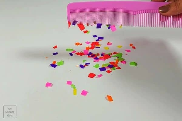 Static Electricity Experiment With Comb