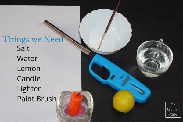 Things We need for Invisible Ink Experiment